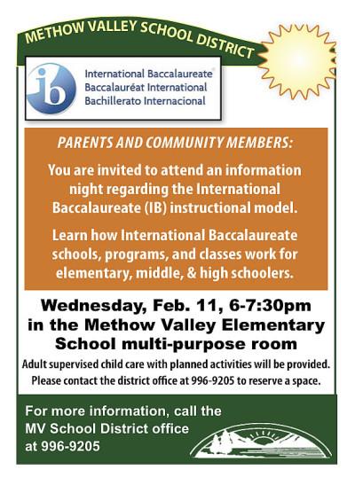 MVSD Info Night for International-Baccalaureate Program - Feb 11, 2015