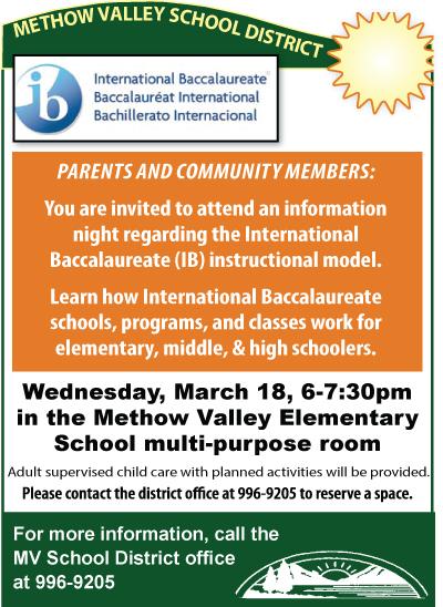 MVSD Info Night for International-Baccalaureate Program - March 18, 2015