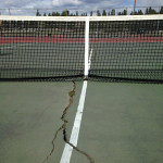 MVSD Tennis Court in Disrepair