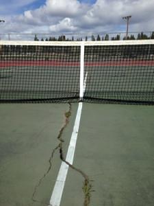 MVSD Tennis Court in Disrepair