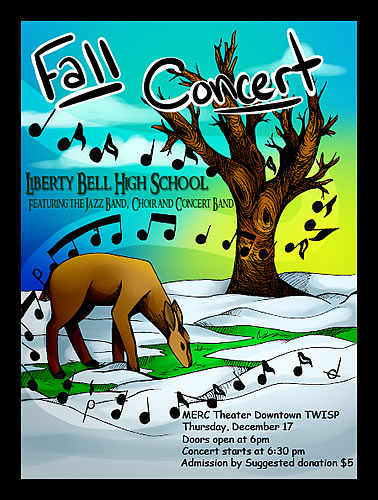 LBHS Fall Concert Poster • December 17, 2015