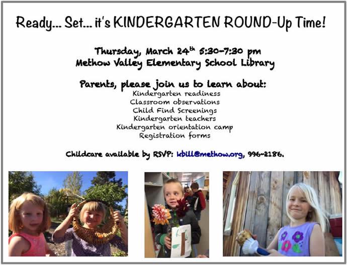 2016 Methow Valley Elementary Kindergarten Round-Up