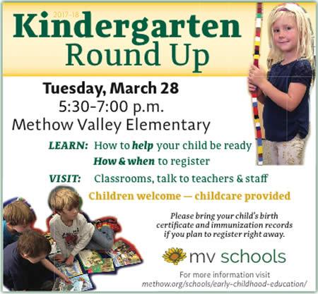 2017 MVE Kindergarten Round Up