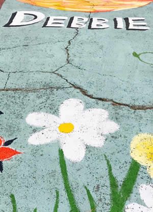 Flowered Parking Space for Debbie Bair
