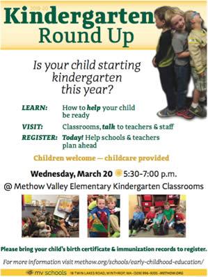 2019 MVE Kindergarten Roundup