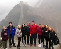 Evelin Wathen at the Great Wall