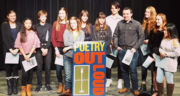 Poetry Out Loud 2020 Participants