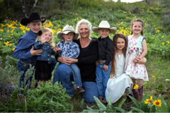 Mindy Miller with grandchildren