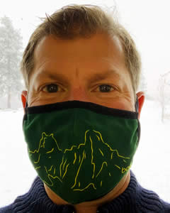 Tom Venable wearing a mask