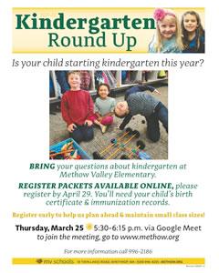 2021 Kindergarten Round Up
