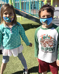 MVE boy and girl kinders at recess