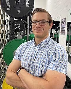 Jeremiah Wicken in the Lion's Den Fitness Center