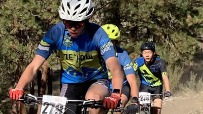 Student mountain bike racing final at MVSD trails
